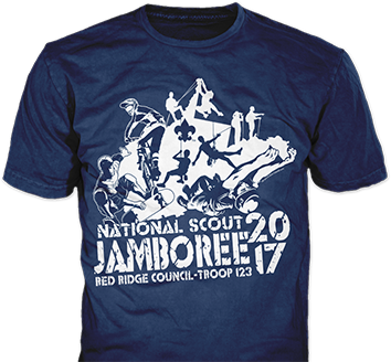 National scout jamboree 2017 t-shirt design idea sp6508
