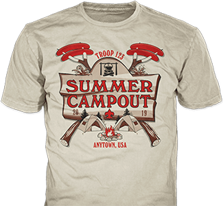summer campout t-shirt design idea SP6024