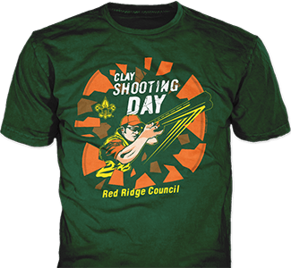 Shooting clay t-shirt design idea SP6025