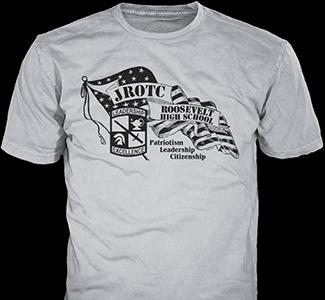 JROTC design idea SP4608 on pink t-shirts