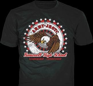 JROTC t-shirt design idea SP5506 on sand t-shirts