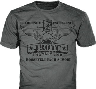 JROTC t-shirt design idea SP5520 on yellow t-shirts