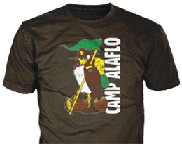 customer drawing turned into custom t-shirt for Camp Alaflo