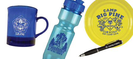 custom camp promotional product examples