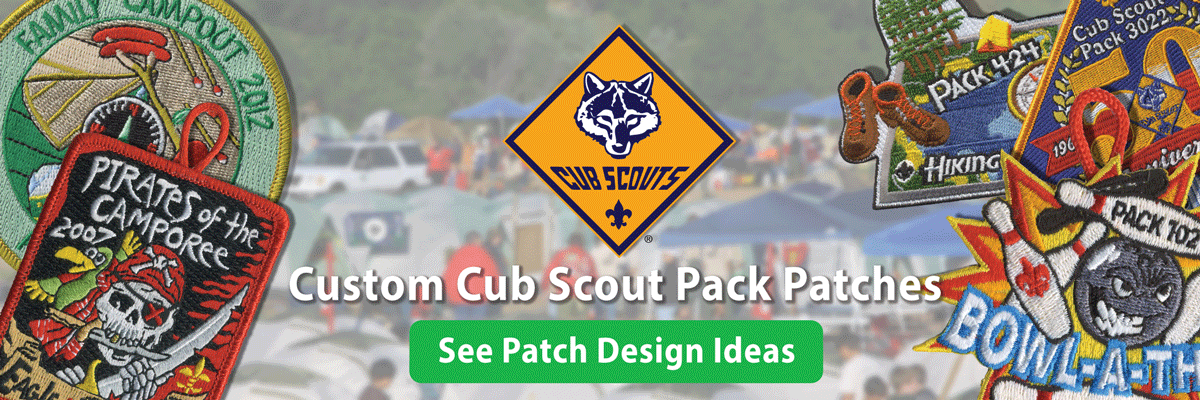 boy scout troop custom t-patch ordering is easy •low prices •free shipping