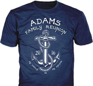 Family Reunion t-shirt design idea SP5656 on navy blue t-shirts