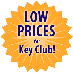 low prices for Key Club custom t-shirts medallion