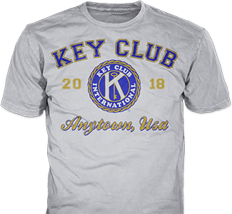 Key Club t-shirt design idea SP2267 on heather blue