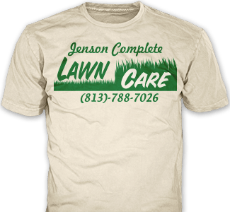 Lawn Care t-shirt design idea SP5703 on cream t-shirts