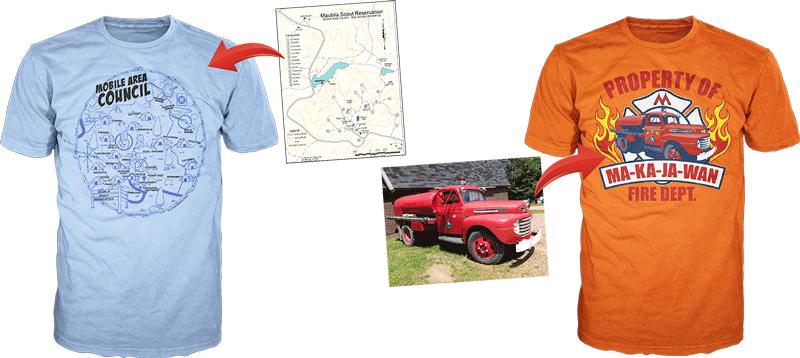 summer camp custom t-shirt examples