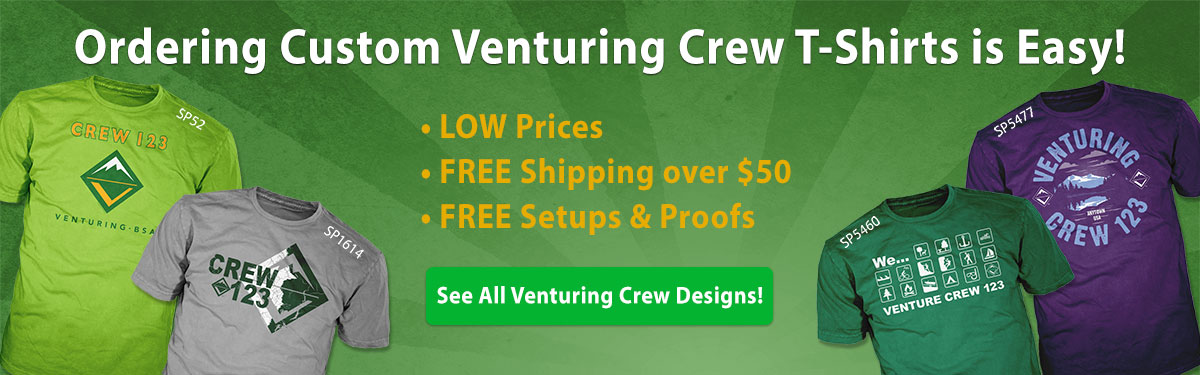 venturing crew custom t-shirts ordering is easy low prices free shipping
