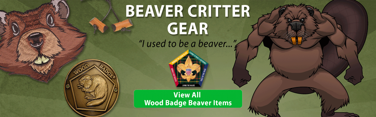 wood badge Beaver critter gear header image