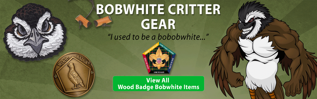wood badge Bobwhite critter gear header image