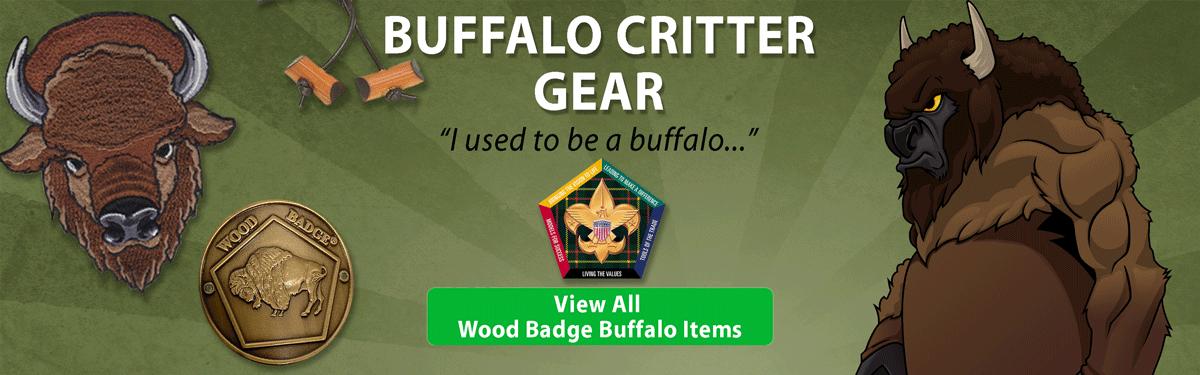 wood badge Buffalo critter gear header image