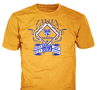 Cub Scout Blue and Gold t-shirt design idea SP5237 on gold t-shirts