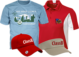 golf fundraiser tournament apparel and caps