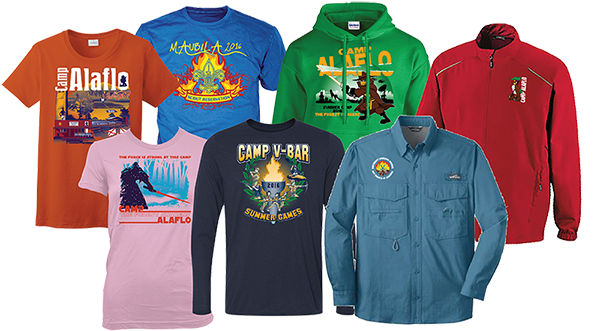 custom apparel for your camp
