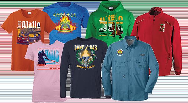 custom apparel for your camp