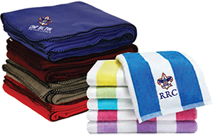 custom printed towels and blankets for boy scout camps