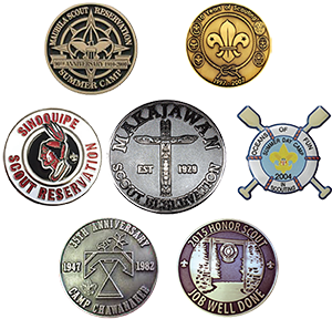 custom coins pins medallions and belt buckles for boy scout camps
