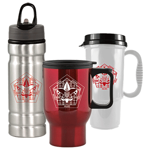 wood badge drinkware