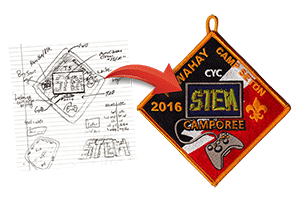 custom patch from sketch example stem camporee