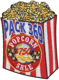 Custom cub scout pack popcorn patch