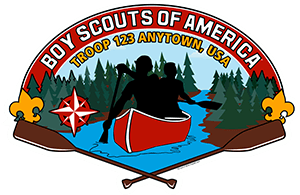 Canoe Troop Trailer Graphic