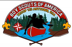 Canoe Troop Trailer Graphic