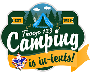Camping Is In-Tents Boy Scout Troop Trailer Graphic