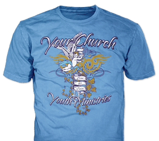 Church youth t-shirt design idea SP3171 on carolina blue
