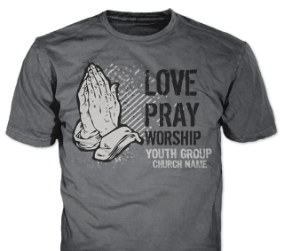 Church youth t-shirt design idea SP4588 on Tweed t-shirts