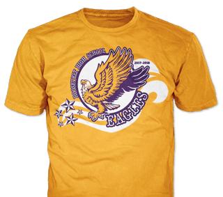Class of 2019 Eagles t-shirt design idea SP2884 on Gold t-shirts