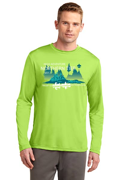 Wicking Performance Northern Tier long sleeve T-shirt