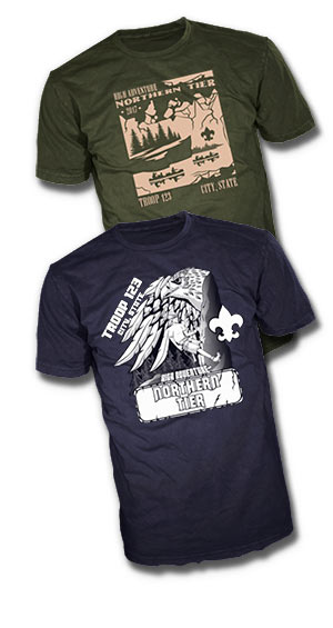 Custom boy scout Northern Tier t-shirt designs