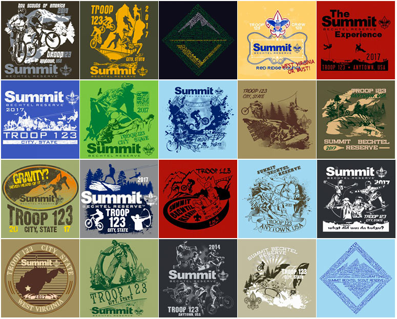 custom BSA summit bechtel reserve t-shirt-designs