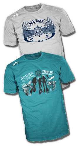 Custom boy scout Florida sea base t-shirt designs