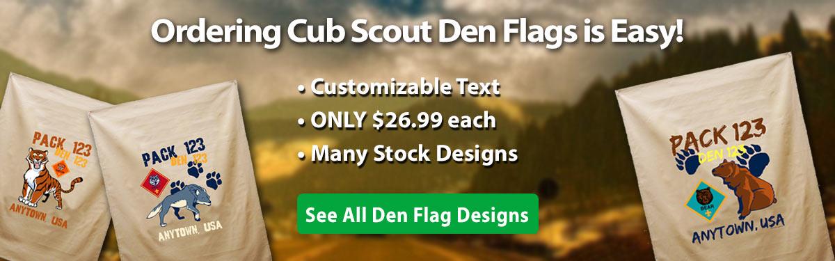 Cub Scout Den Flags Banner