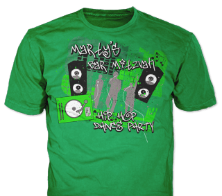 Bar Mitzvah t-shirt design idea SP5881 on Green