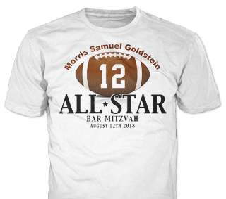Bar Mitzvah t-shirt design idea SP5883 on White
