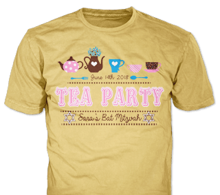 Bat Mitzvah T Shirt Design Idea Sp5889 On Light Brown