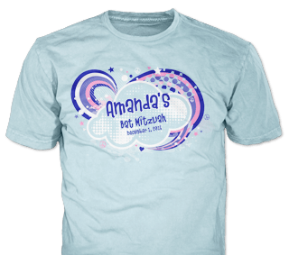 Bat Mitzvah t-shirt design idea SP6071 on Sky Blue
