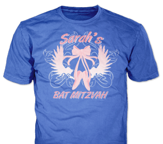 Bat Mitzvah t-shirt design idea SP6235 on Royal Blue