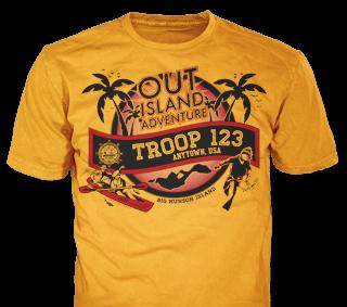 Florida Sea Base High Adventure Custom T-Shirt Design SP4566 on Orange Color
