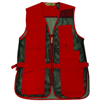 Full Mesh Shooting Vest Red Color