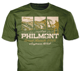 Philmont Trek High Adventure Custom T-Shirt SP4775 on Moss Green