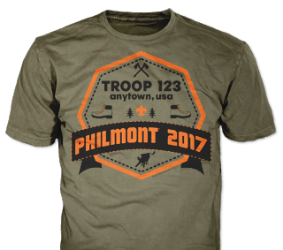 Philmont Trek High Adventure Custom T-Shirt SP6611 on Dark Brown