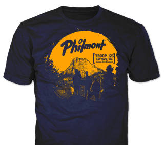 Philmont Trek High Adventure Custom T-Shirt SP3787 on Navy Blue