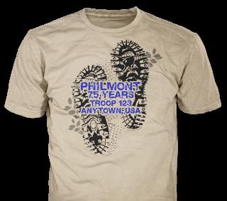 Philmont Trek t-shirt design template