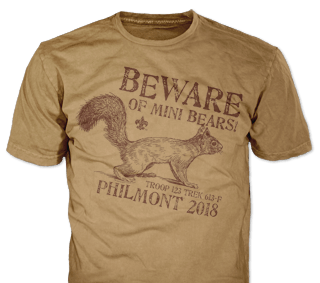 Philmont Trek High Adventure Custom T-Shirt SP6616 on Olive